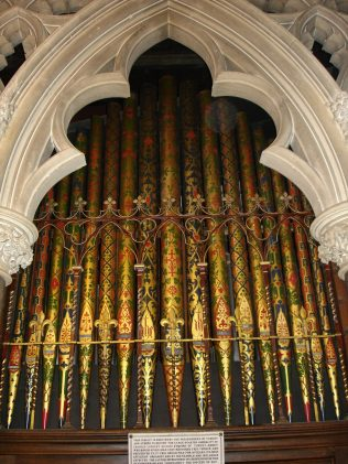 All Saints organ pipes central arch | Jane Brewster
