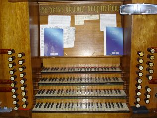 All Saints organ - the four manuals | Jane Brewster
