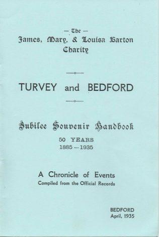 The Barton Charity Jubilee Souvenir Handbook