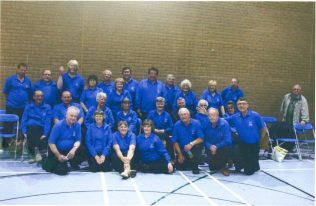 Turvey Bowls Club members playing for Bedfordshire County