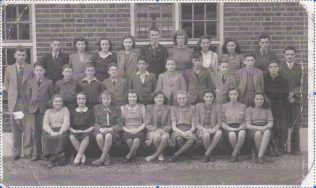 A Group of School Children outside Harrold School