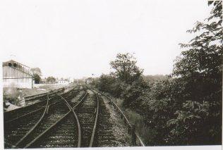 Turvey Station platforms and goods yard