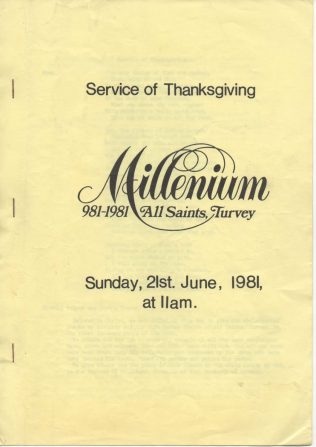 Service of Thanksgiving, All Saints Church Millenium