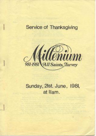 Service of Thanksgiving, All Saints Church Millenium