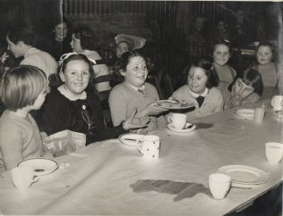 Children at the Recreation Association Christmas Tea Party