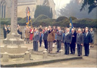 A Remembrance Day Parade by the War Memorial