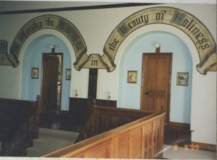 Interior view of Congregational Chapel