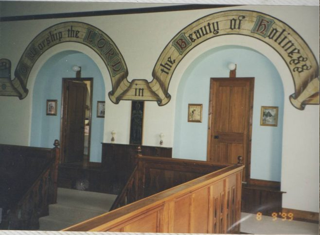 Interior of the Congregational Chapel. Now a private residence.