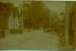 Turvey High Street looking east from Homelands, 1900-1920