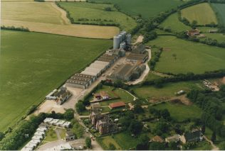 Aerial view of Station End, Turvey