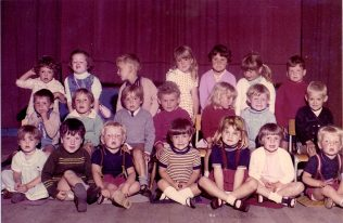 Group photograph of Turvey Playgroup children
