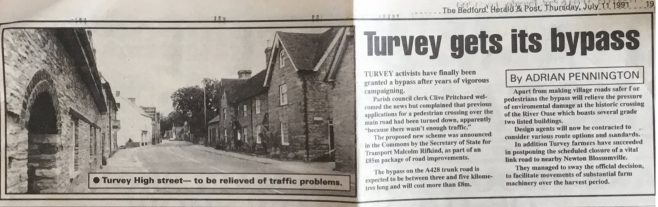 Turvey Gets Its By-Pass