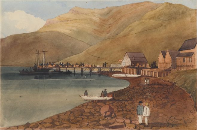 Immigrants landing at Port Lyttelton. New Zealand | William Fox