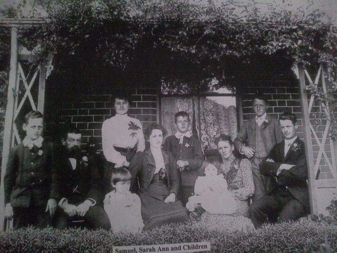 Samual & Sarah Ann Ayres Family Photograph