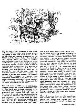 Summary of Birds and Beasts