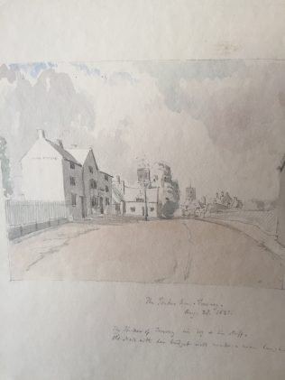 The Tinkers Inn 1833. Taken from the Turvey Abbey Commonplace. Copyright J Longuet-Higgins | John Higgins