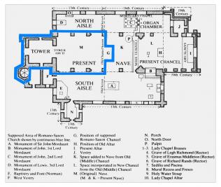 Plan of All Saints Turvey