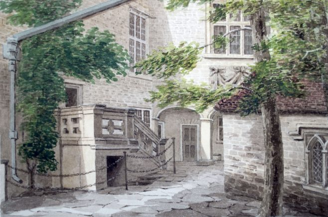 Turvey Abbey Courtyard