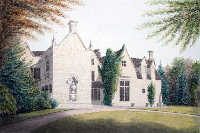 Turvey Abbey with Wall Bust