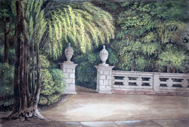 Turvey Abbey, the Garden gate