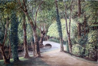 Turvey Abbey Pond and bridge