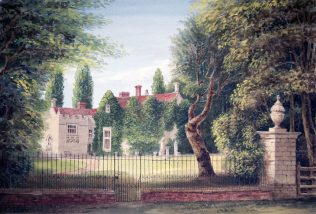 Turvey Abbey from New Close Gate
