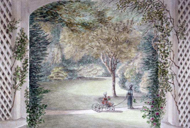 Turvey Abbey View of Garden