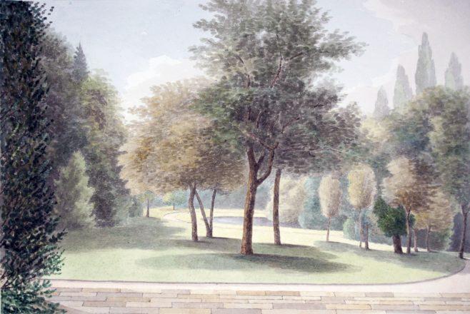 Turvey Abbey Garden from the window