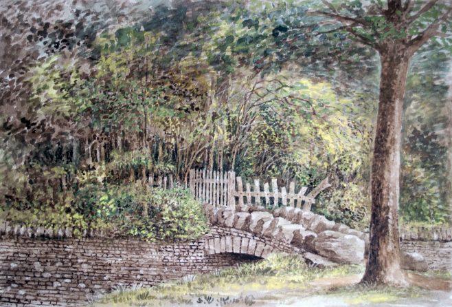 Turvey Abbey Garden Gate from the Warren