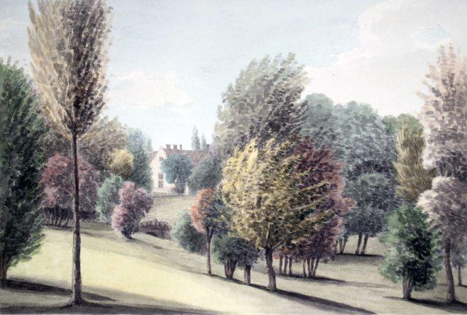 Turvey Abbey from the warren