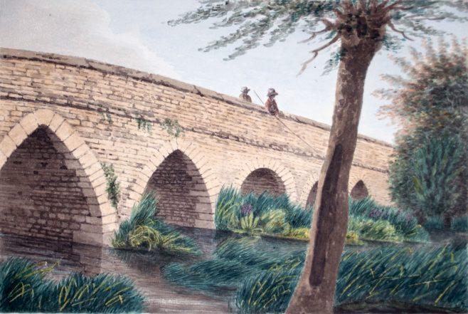Fishing from Turvey Bridge | John Higgins
