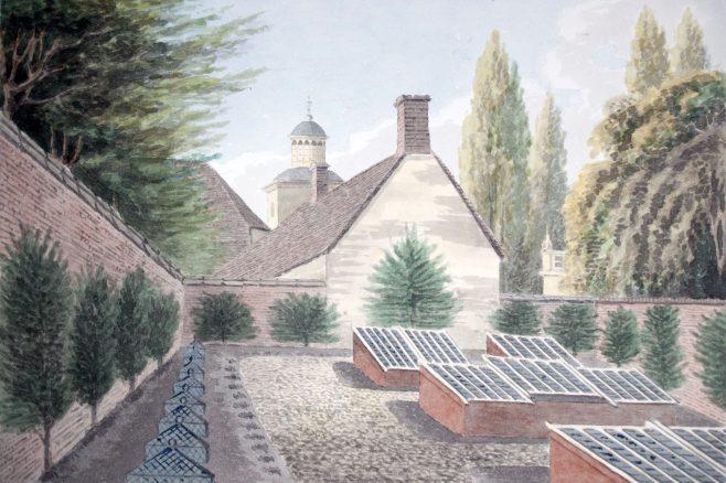 Turvey Abbey, the Flower Garden