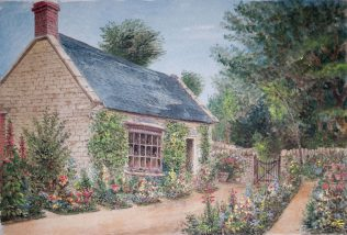 Small Building with Flower Garden