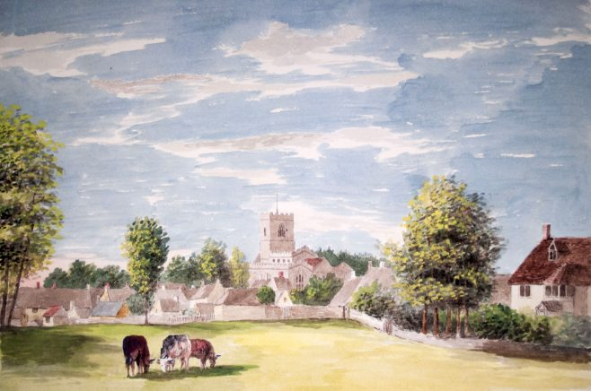 Turvey Church from the Laws Field