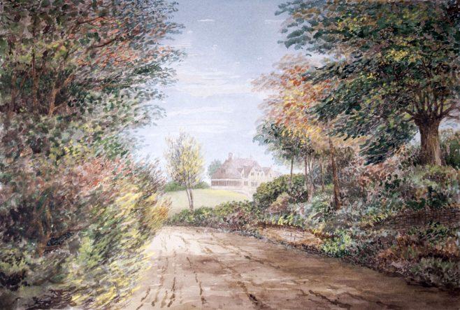 Turvey Cottage from Newton Lane