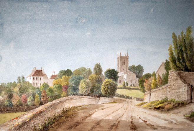 Odell Church and Castle