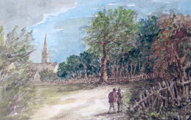 Two men in field