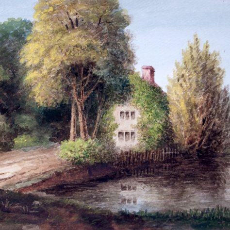 Cottage by waterside