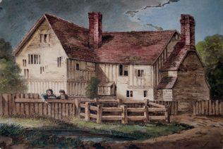 Timber Framed House and Pond