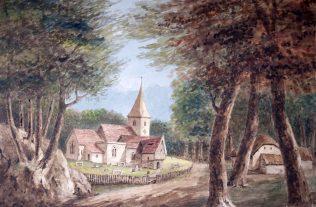 Church amid Trees