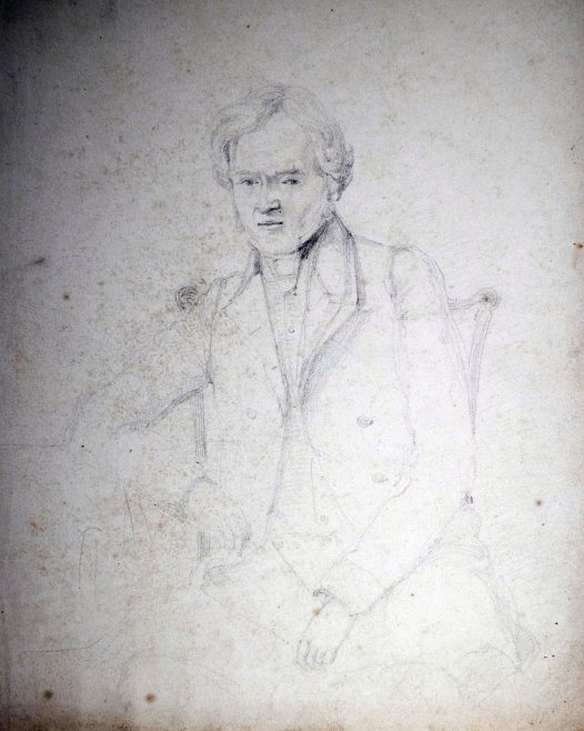Line drawing of man