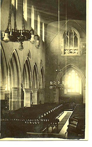 Interior of All Saints Church looking West