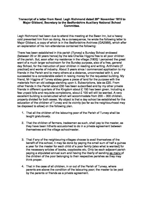 Letter Of Non Attendance from www.turveyhistory.org.uk
