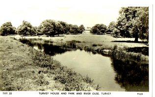 Turvey House And Park And River Ouse. Turvey