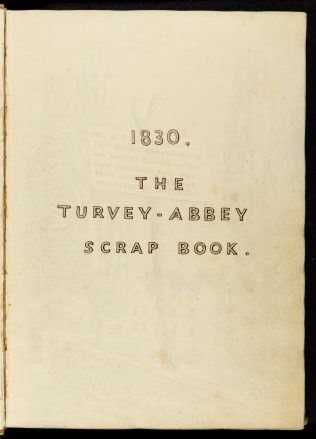 Index to the Turvey Abbey Scrap Books