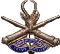 Badge of the 71st Siege Battery of the South African Heavy Artillery.