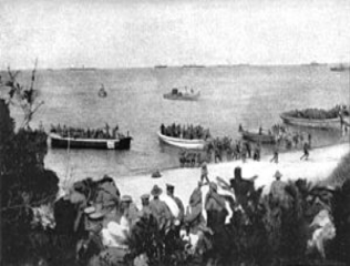 4th Battalion landing at Gallipoli on 25th April at around 8am | With permission of the Imperial War Museum Ref:  Q112876