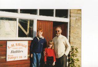 Len Savage with his Grandchildren