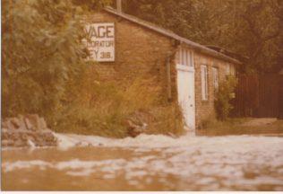 Len Savage's workshop in flood