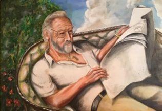 Painting of Len Savage